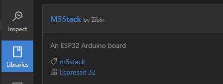 Platform IO M5Stack lib