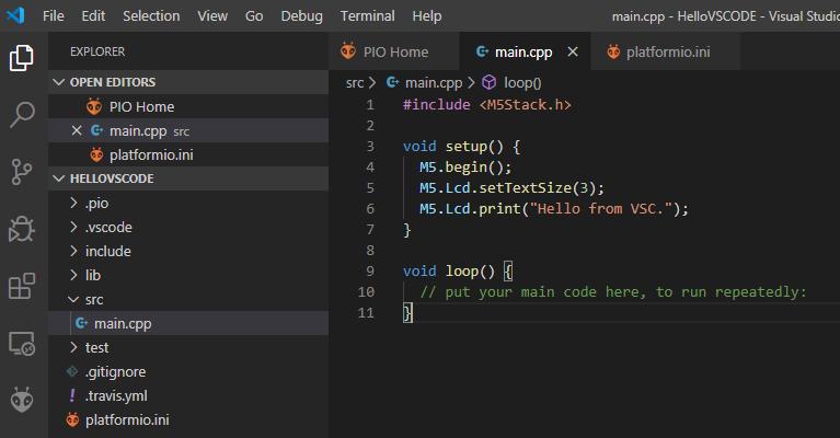 VS Code M5Stack Hello