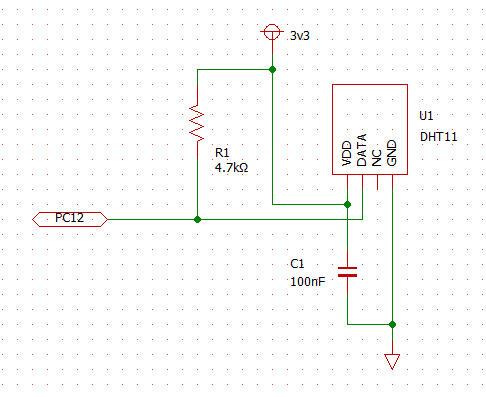DHT11 TEST circuit