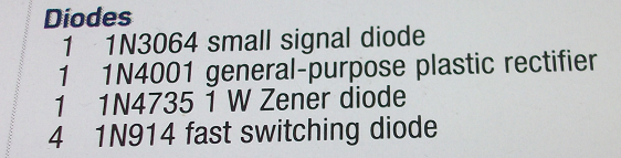 ADALP2000 Diode List