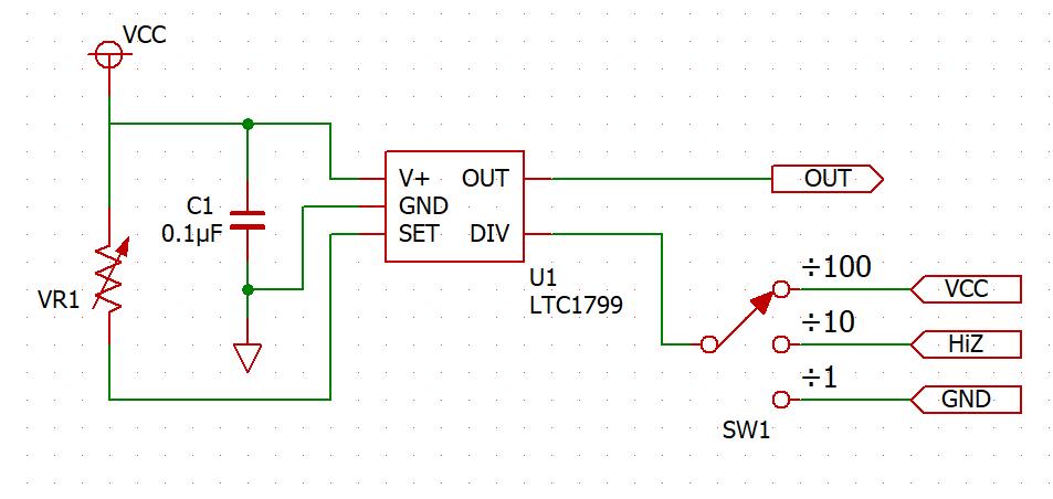 LTC1799 DUT Circuit