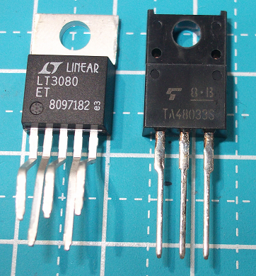 LT3080 and TA48033, TO-220 package