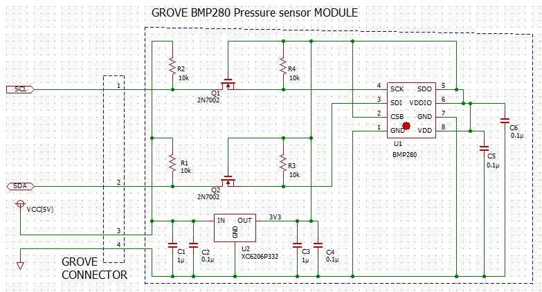 Grove BMP280 schematic