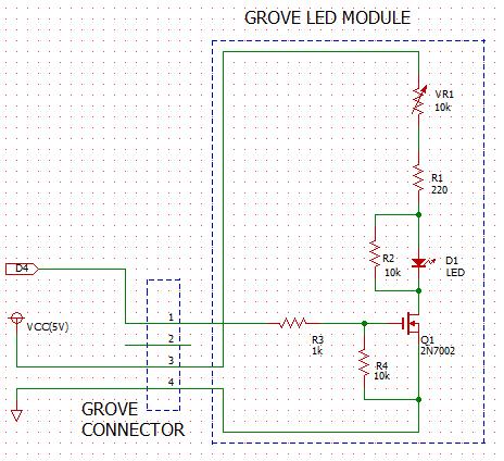Grove LED module Circuit