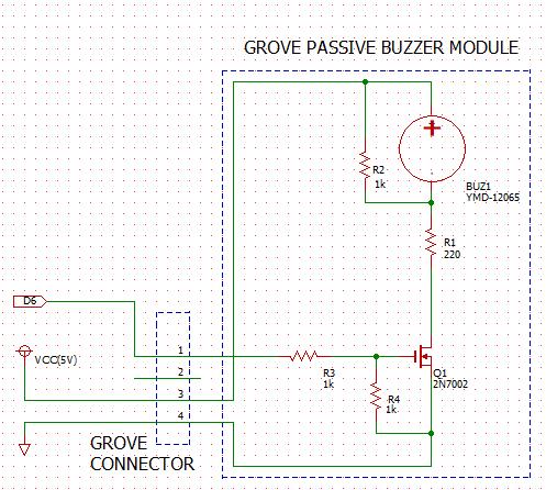 Grove Passive Buzzer Module Schematic