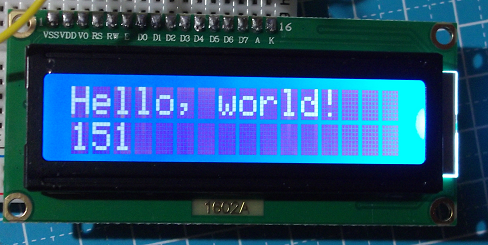 LCD1602A VO=1K