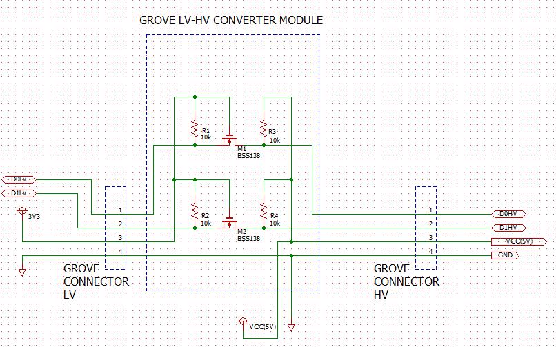 Grove LEVEL Converter module circuit