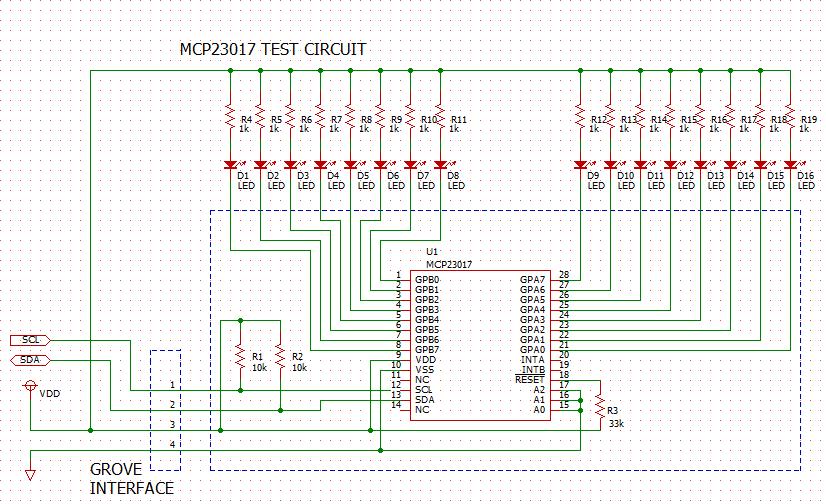 MCP23017_TEST_CIRCUIT