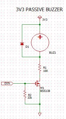 Passive Buzzer 3V3 circuit