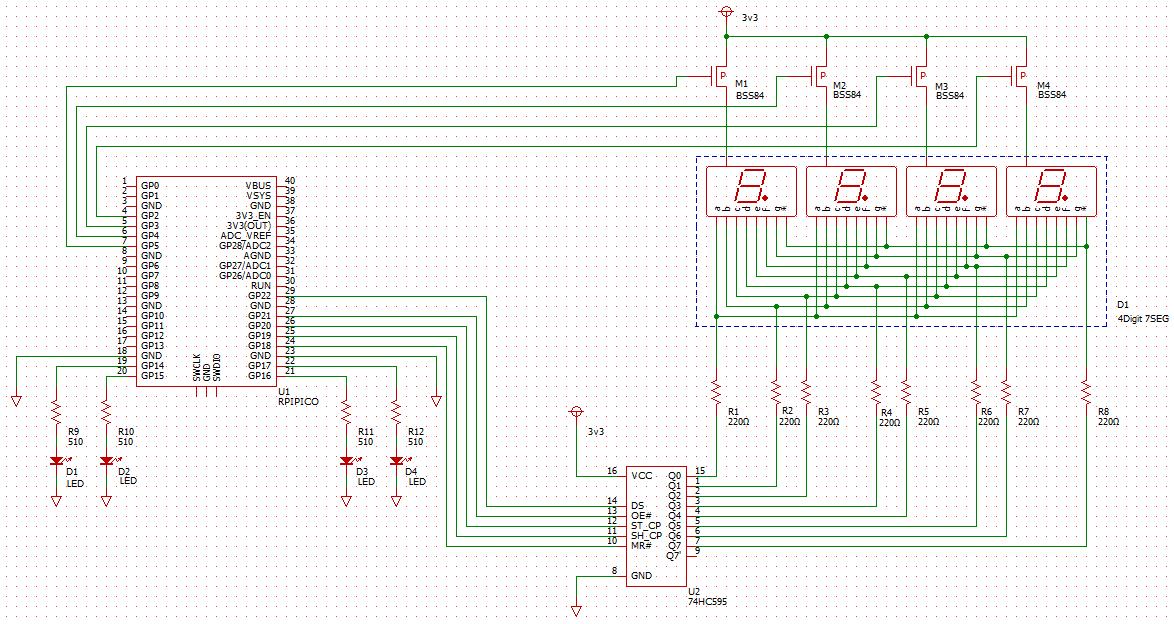 RPi Pico 7SEG Schematic