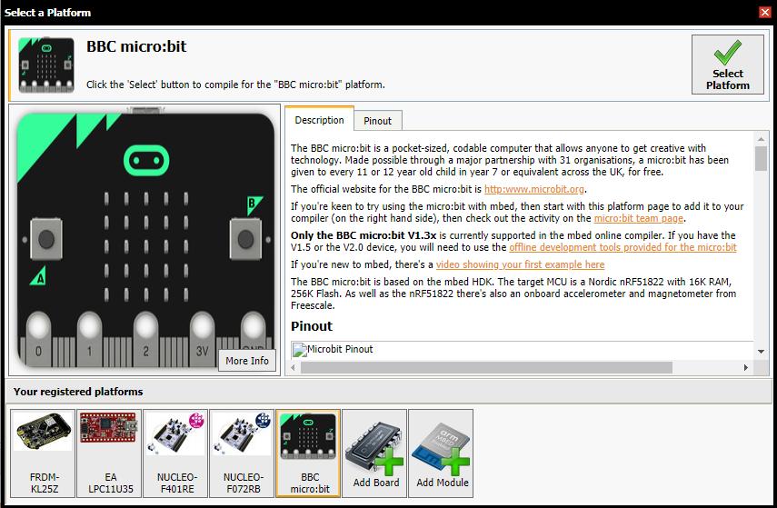 BBC microbit Platform