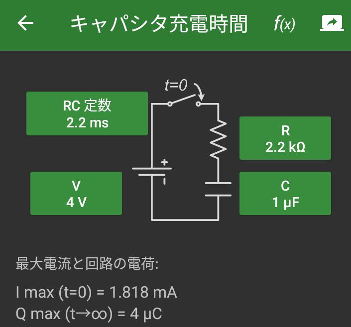 R=22k C=1uF