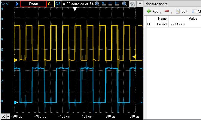 PIO 2bit waveformbit waveform